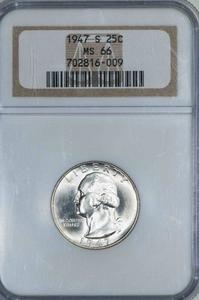 1947 S NGC MS66 Washington Quarter