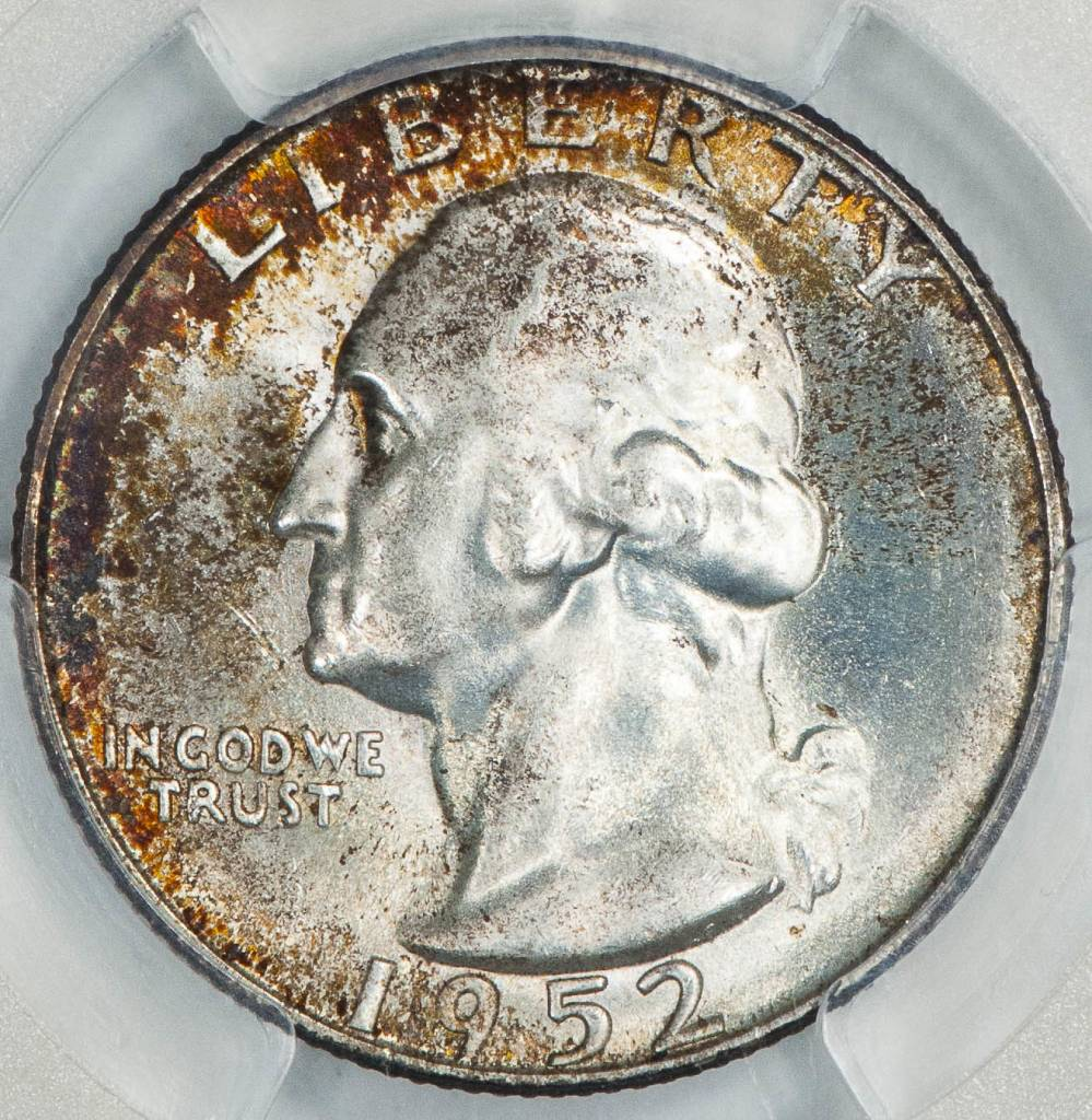 1952 S PCGS MS66+ Washington Quarter