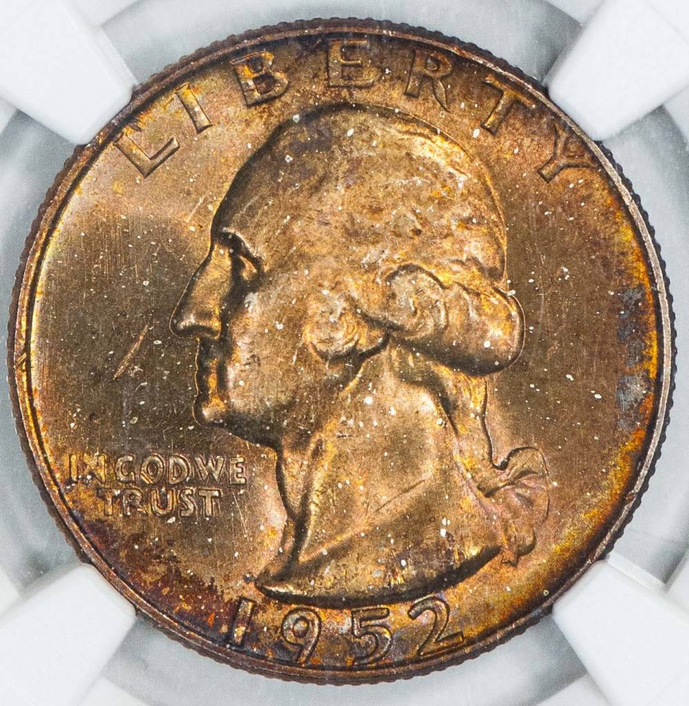 1952 S NGC MS65 Washington Quarter