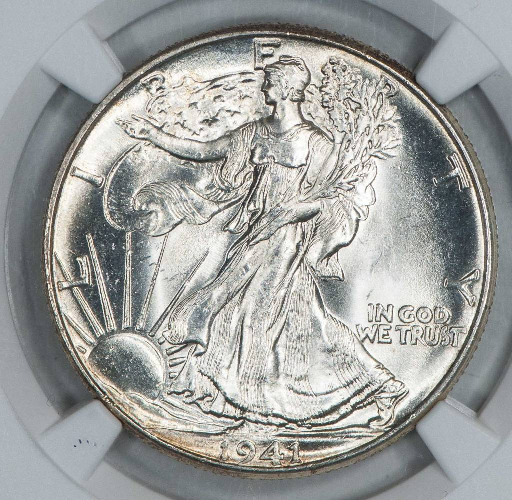 1941 NGC MS64+ Walking Liberty Half