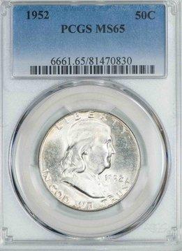 1952 PCGS MS65 Franklin Half Dollar
