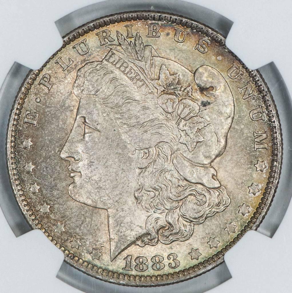 1883 O NGC MS61 Morgan Silver Dollar Beautiful Toning