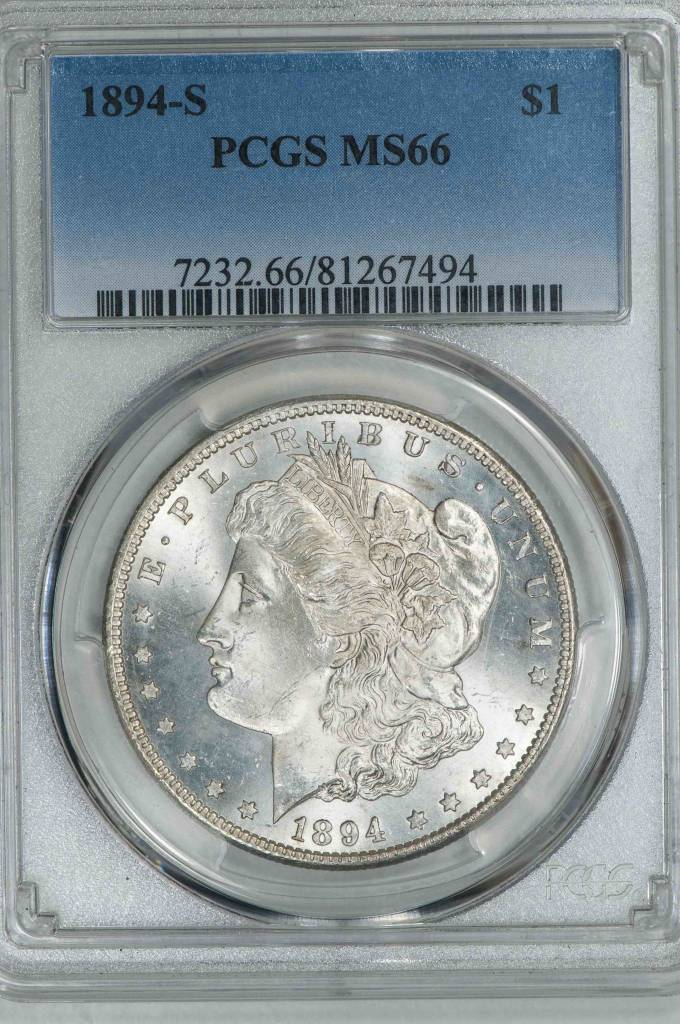 1894 S PCGS MS66 Morgan Silver Dollar