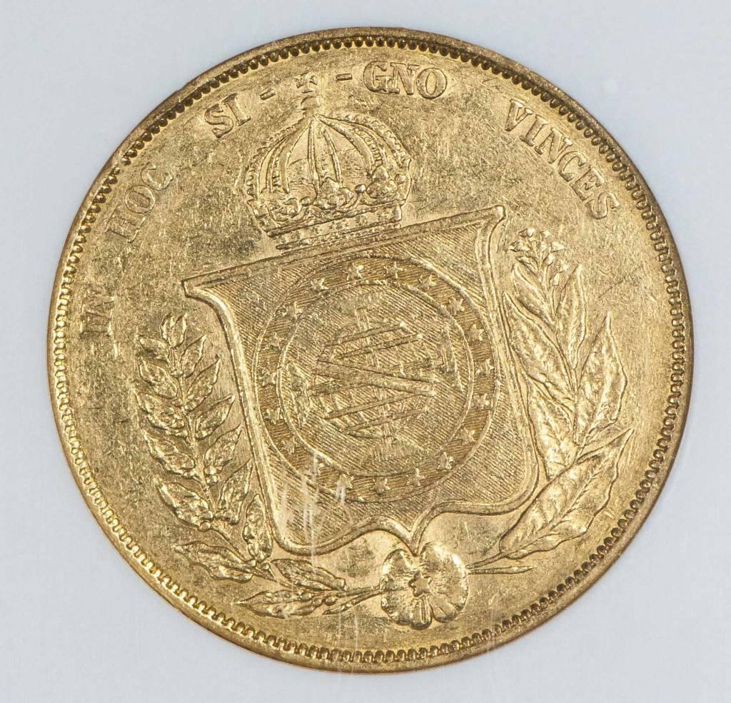 1867 NGC XF45 Brazil 20,000 Reis