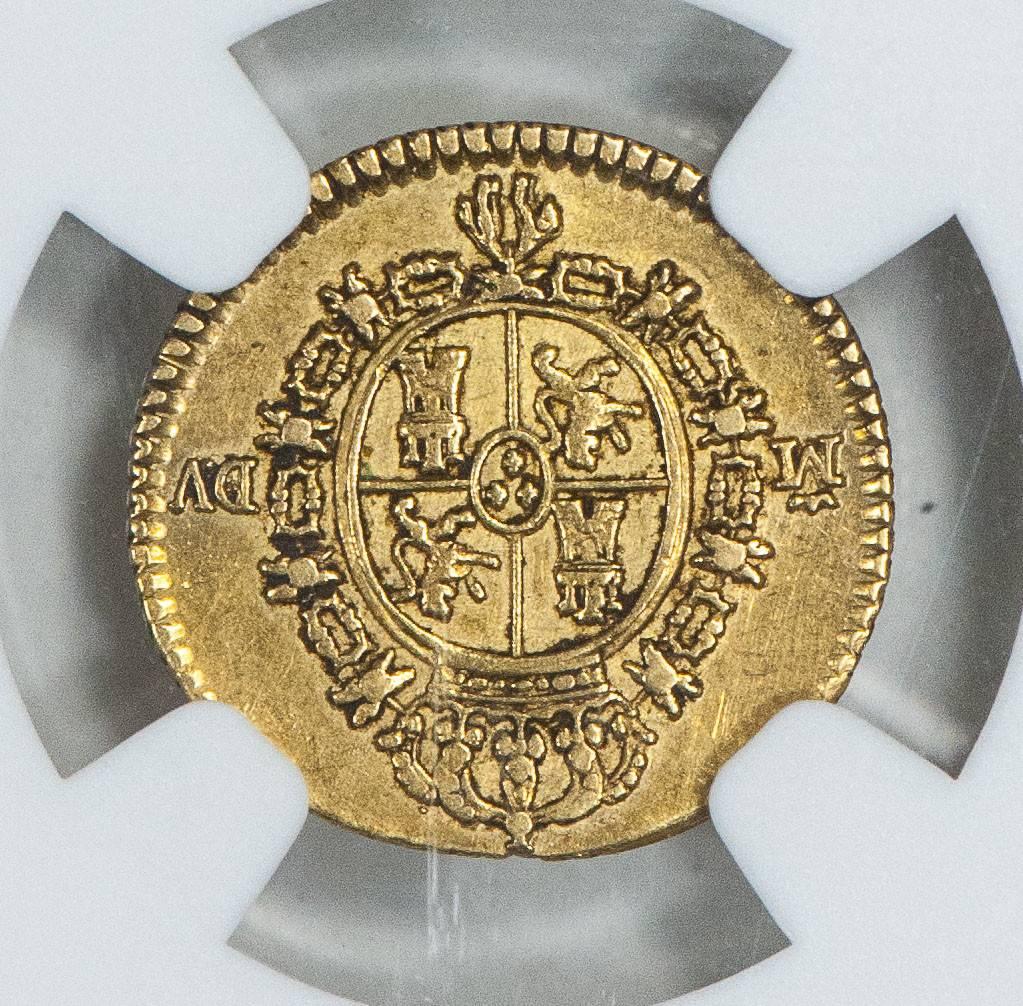 1786M DV Spain NGC XF Details 1.2 Escudo