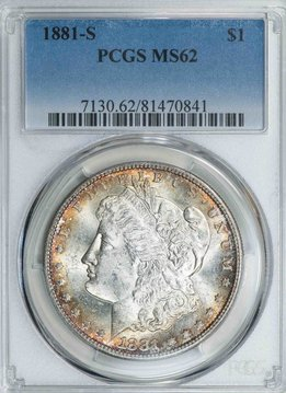 1881 S PCGS MS62 Morgan Dollar