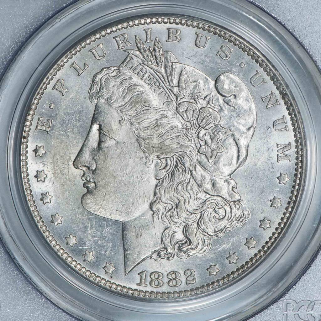 1882 O PCGS AU55 VAM 5 O/S EDS TOP 100 Morgan Dollar
