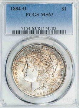 1884 O PCGS MS63 Morgan Dollar