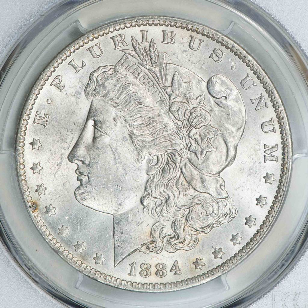 1884 O PCGS MS62 Morgan Silver Dollar