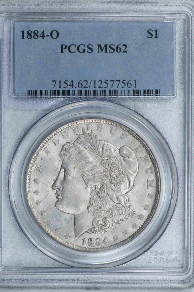1884 O PCGS MS62 Morgan Dollar