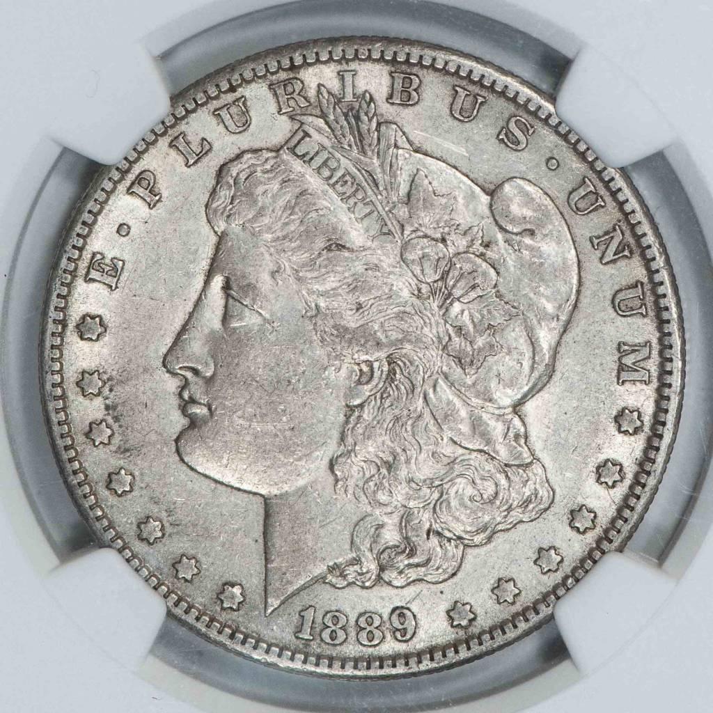 1889 S NGC AU50 Morgan Dollar
