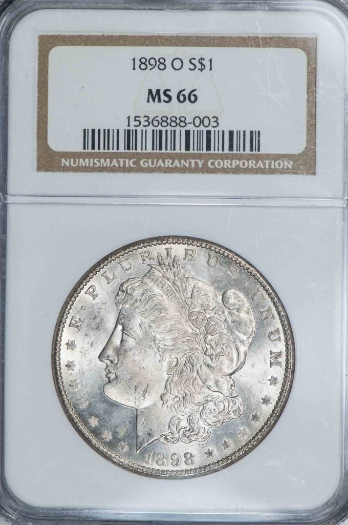 1898 O NGC MS66 Morgan Silver Dollar