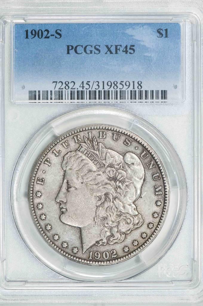 1902 S PCGS XF45 Morgan Silver Dollar