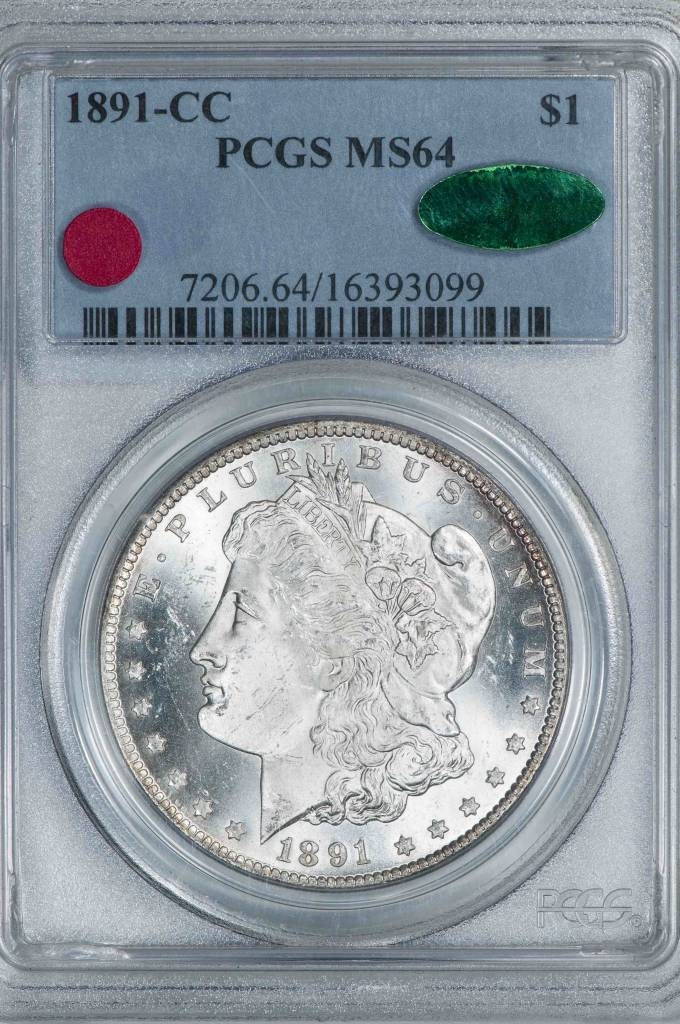 1891 PCGS MS64 CAC Morgan Silver Dollar