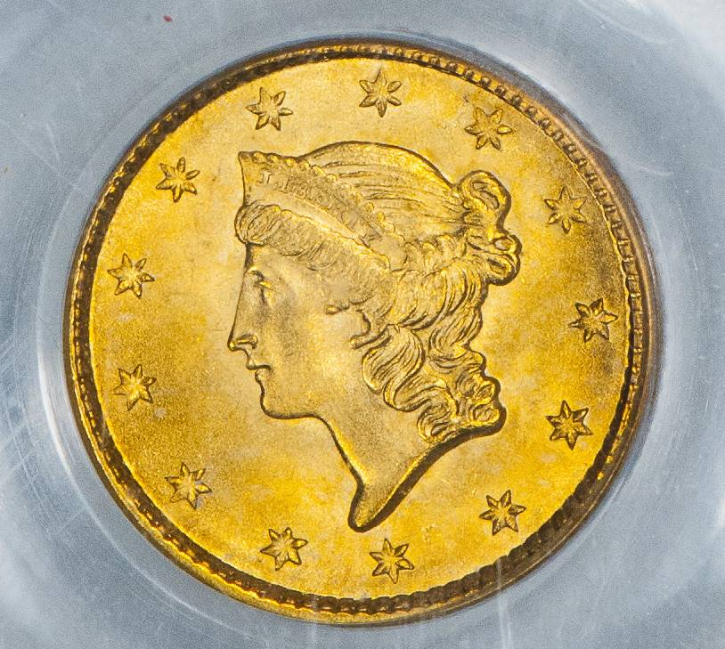 1850 PCGS MS65 CAC Gold Dollar