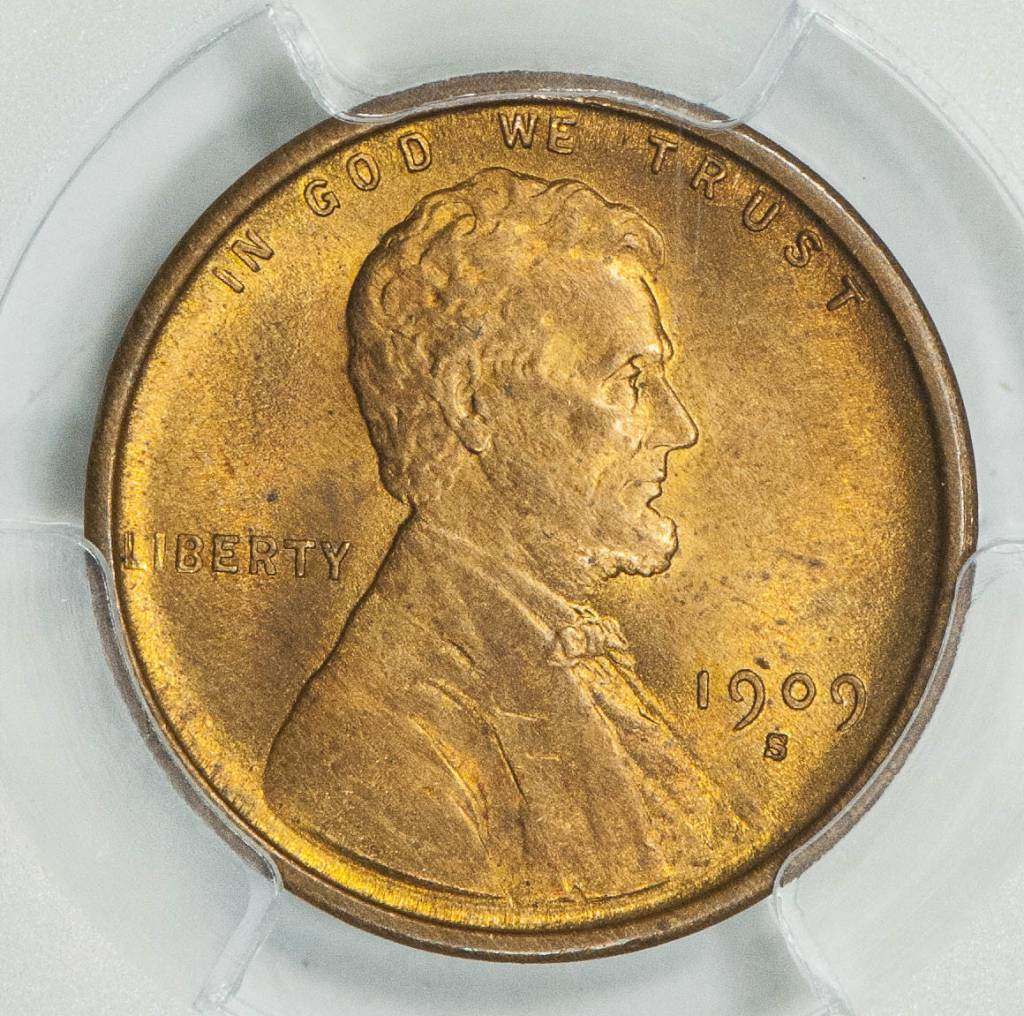 1909 S PCGS MS65RD Lincoln Cent