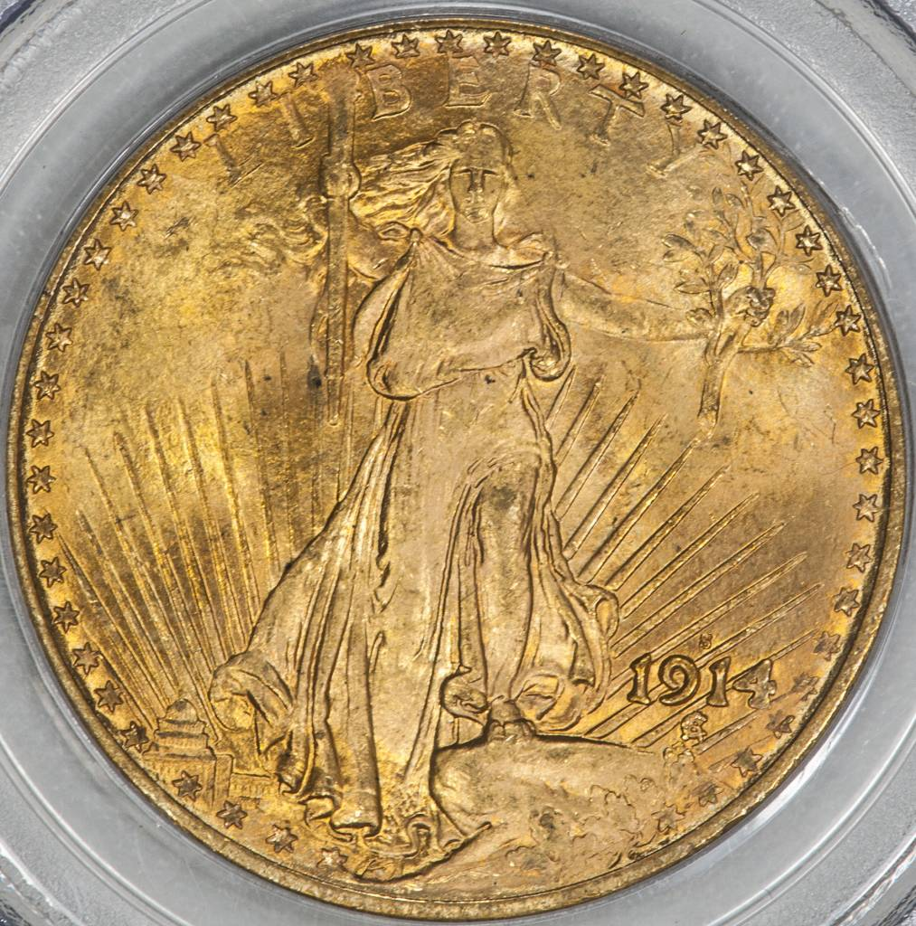 1914-S PCGS MS64 $20 Saint Gaudens Double Eagle