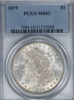1879 PCGS MS62 $1 Morgan Silver Dollar