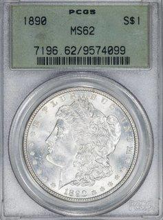 1890 PCGS MS62 $1 Morgan Silver Dollar