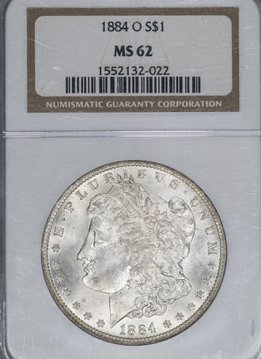 1884-O NGC MS62 $1 Morgan Silver Dollar