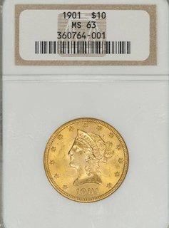 1901 NGC MS63 $10 Liberty Head Eagle