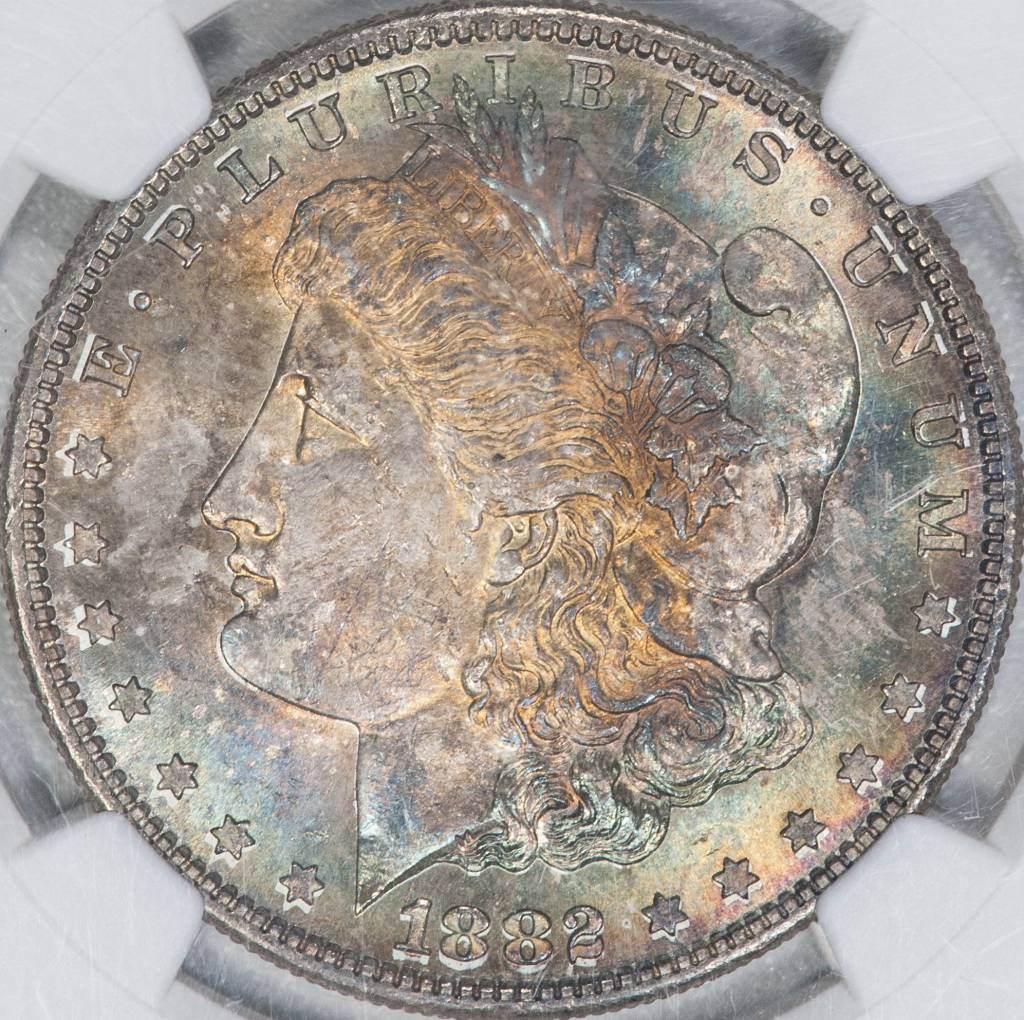 1882-S NGC MS64 $1 Morgan Silver Dollar