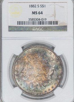 1882-S NGC MS64 $1 Morgan Silver Dollar