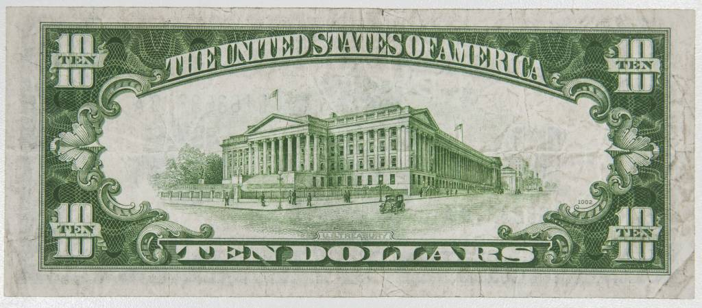 1934 A $10 Silver Certificate