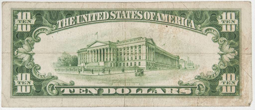 1934 D $10 Silver Certificate