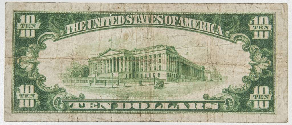 1929 $10 Federal Reserve of Philadelphia, PA