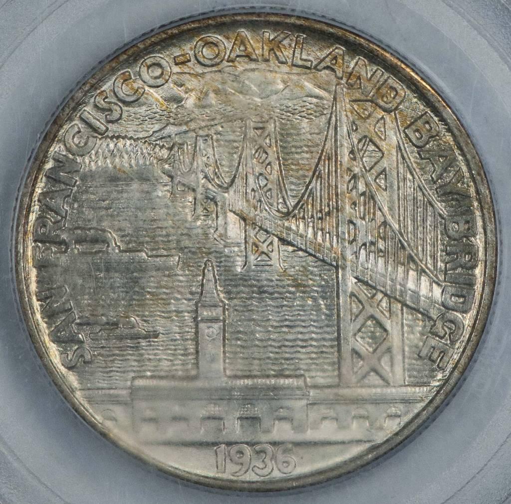 1936 S PCGS MS66 Bay Bridge Commemorative Half Dollar