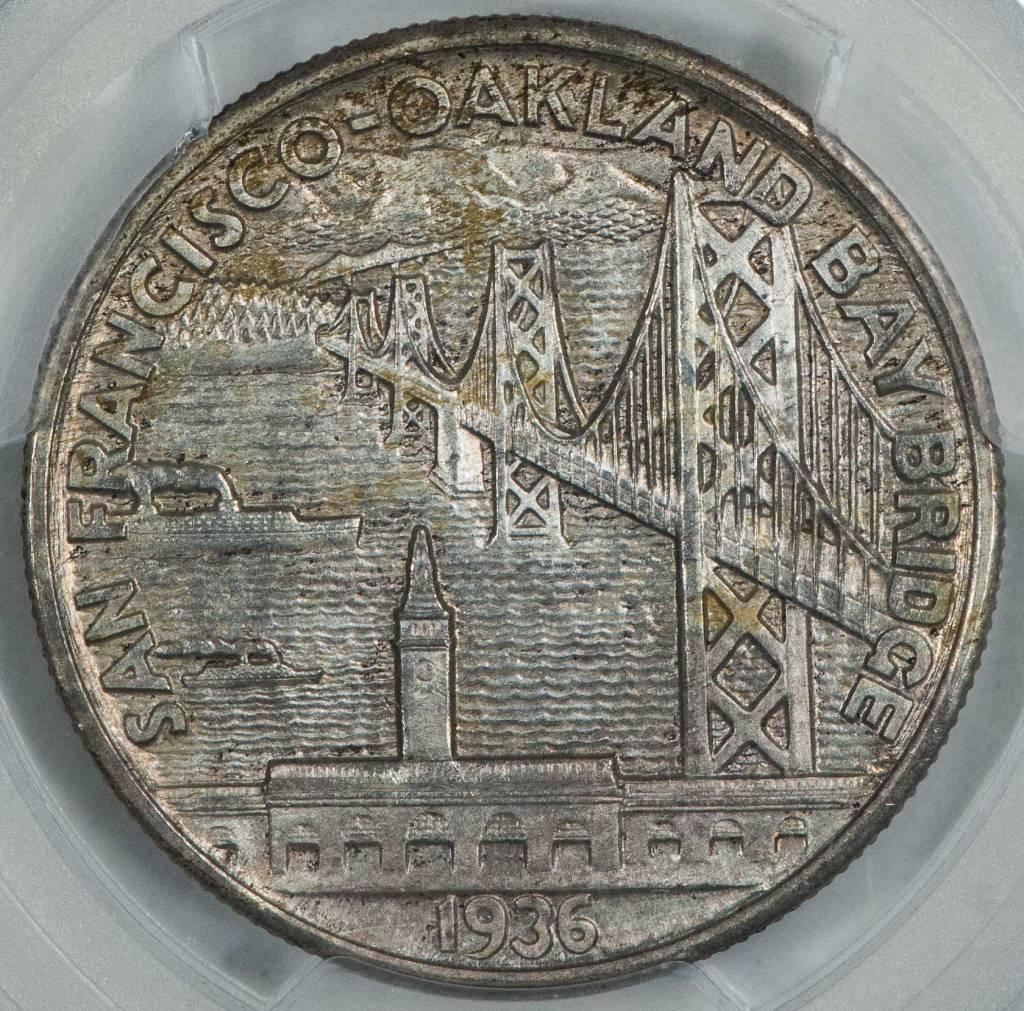 1936 S PCGS MS65+ Bay Bridge Commemorative Half Dollar