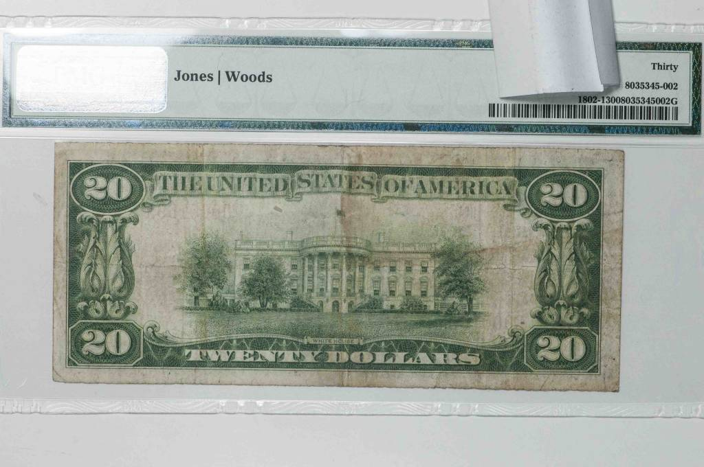1929 Ty.1 PMG VF30 $20 Oakdale California National Bank Note CH#7502