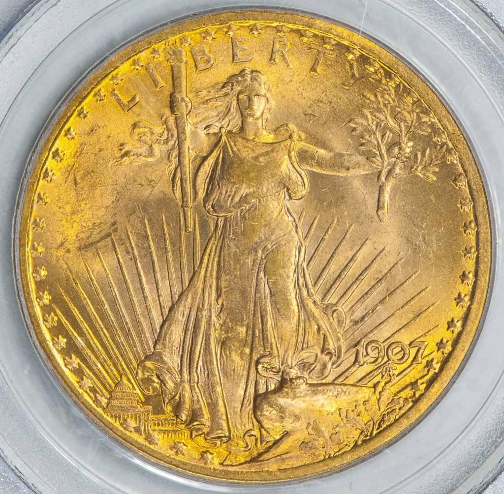 1907 PCGS MS64 $20 Saint Gaudens Double Eagle