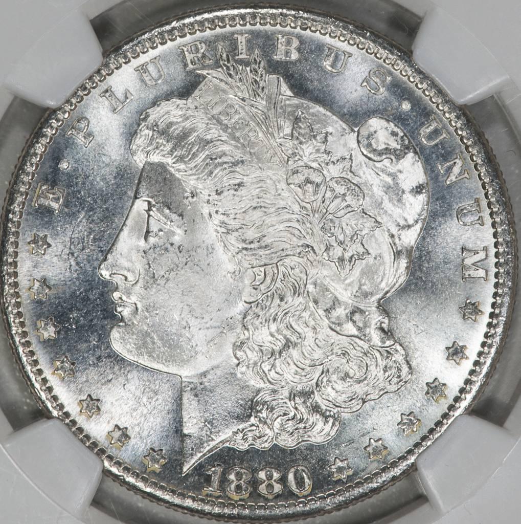 1880 S NGC MS63 Morgan Silver Dollar