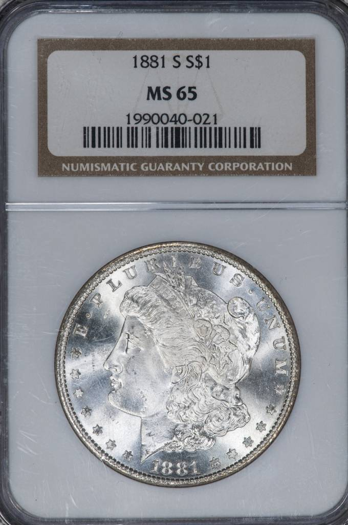 1881 S NGC MS65 Morgan Silver Dollar