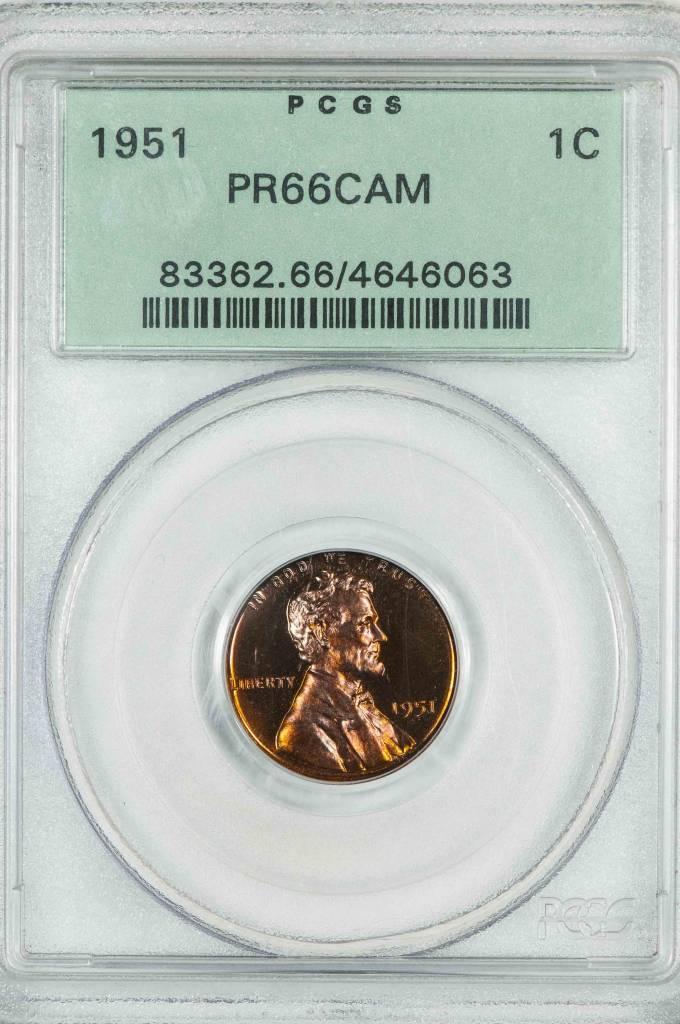 1951 PCGS PR66CAM Lincoln Wheat Cent