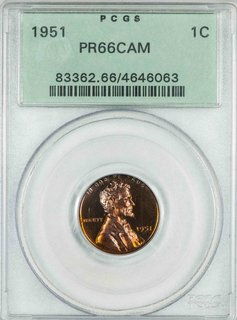 1951 PCGS PR66CAM Lincoln Wheat Cent