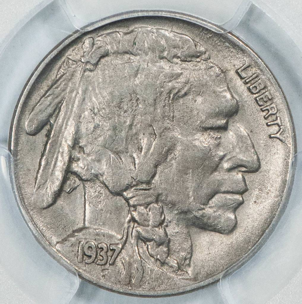 1937 D PCGS AU58 3 Legs Buffalo Nickel