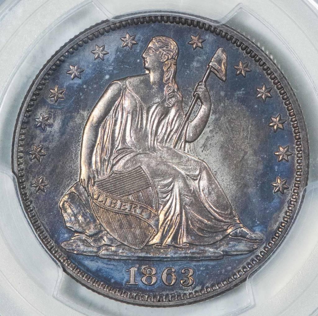 1863 PCGS PR66 Seated Liberty Half Dollar