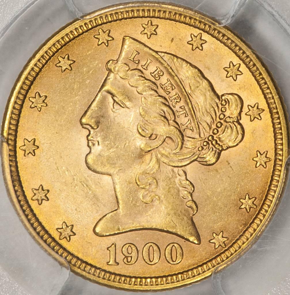 1900 PCGS MS63 $5 Gold Liberty