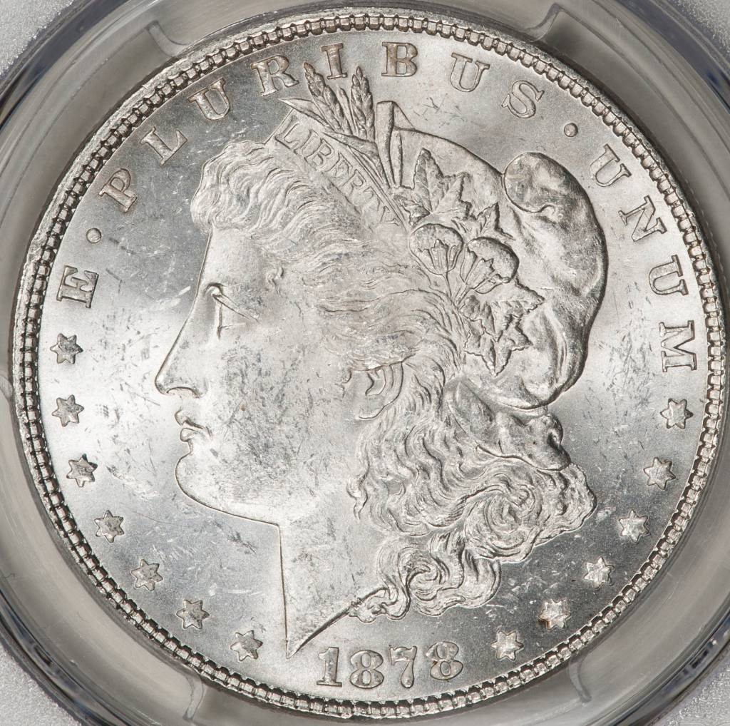 1878 7TF PCGS MS62 REV OF 1878 Morgan Dollar