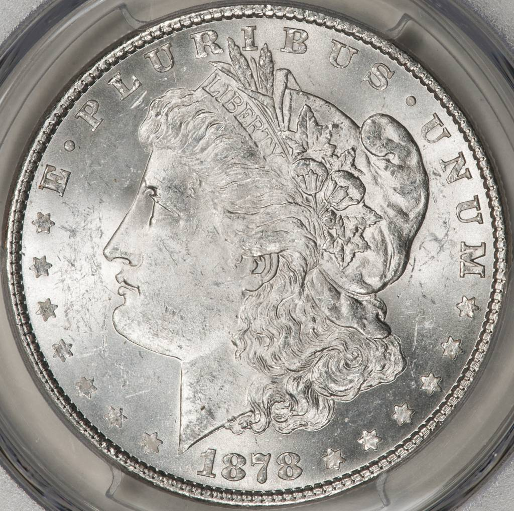 1878 7TF PCGS MS63 REV OF 1879