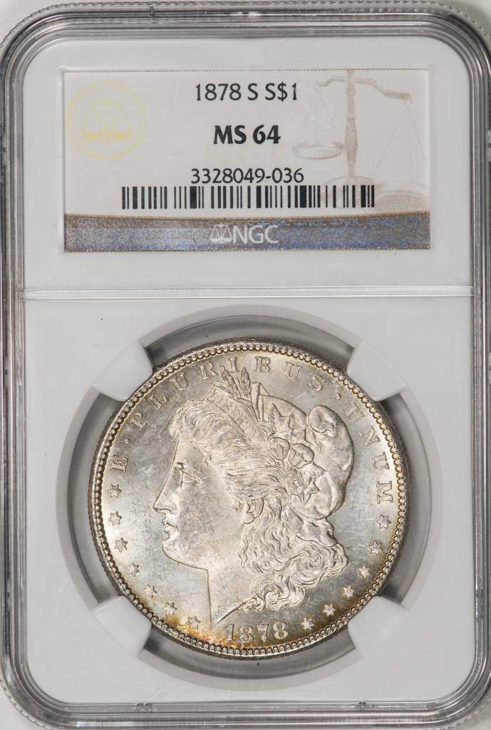 1878 S NGC MS64 Morgan Silver Dollar