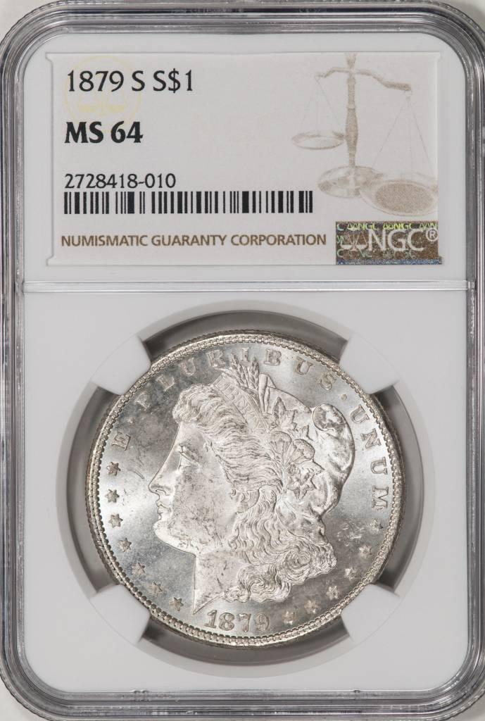1879-S NGC MS64 Morgan Dollar