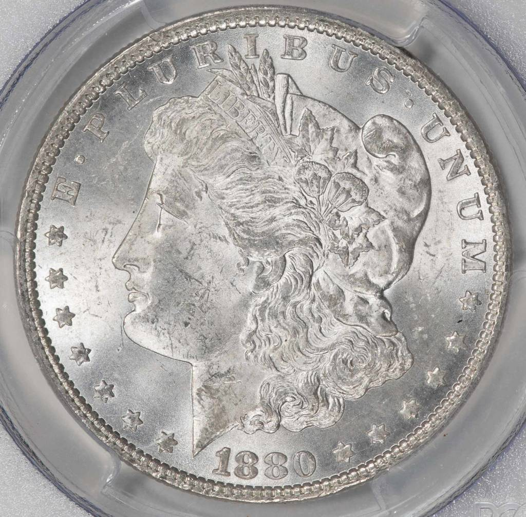 1880 PCGS MS63 Morgan Silver Dollar