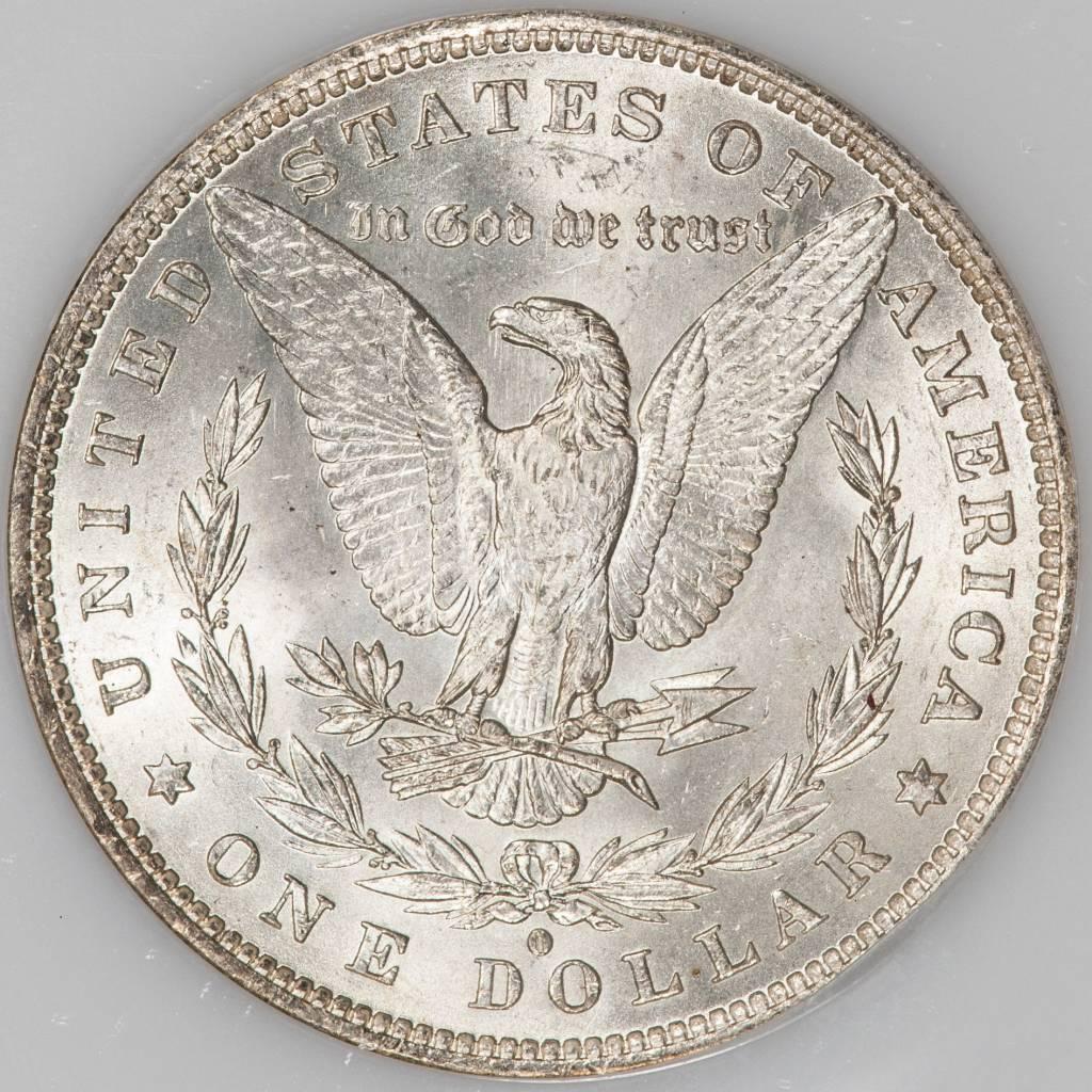 1882 O/O NGC MS63 VAM7 Morgan Silver Dollar