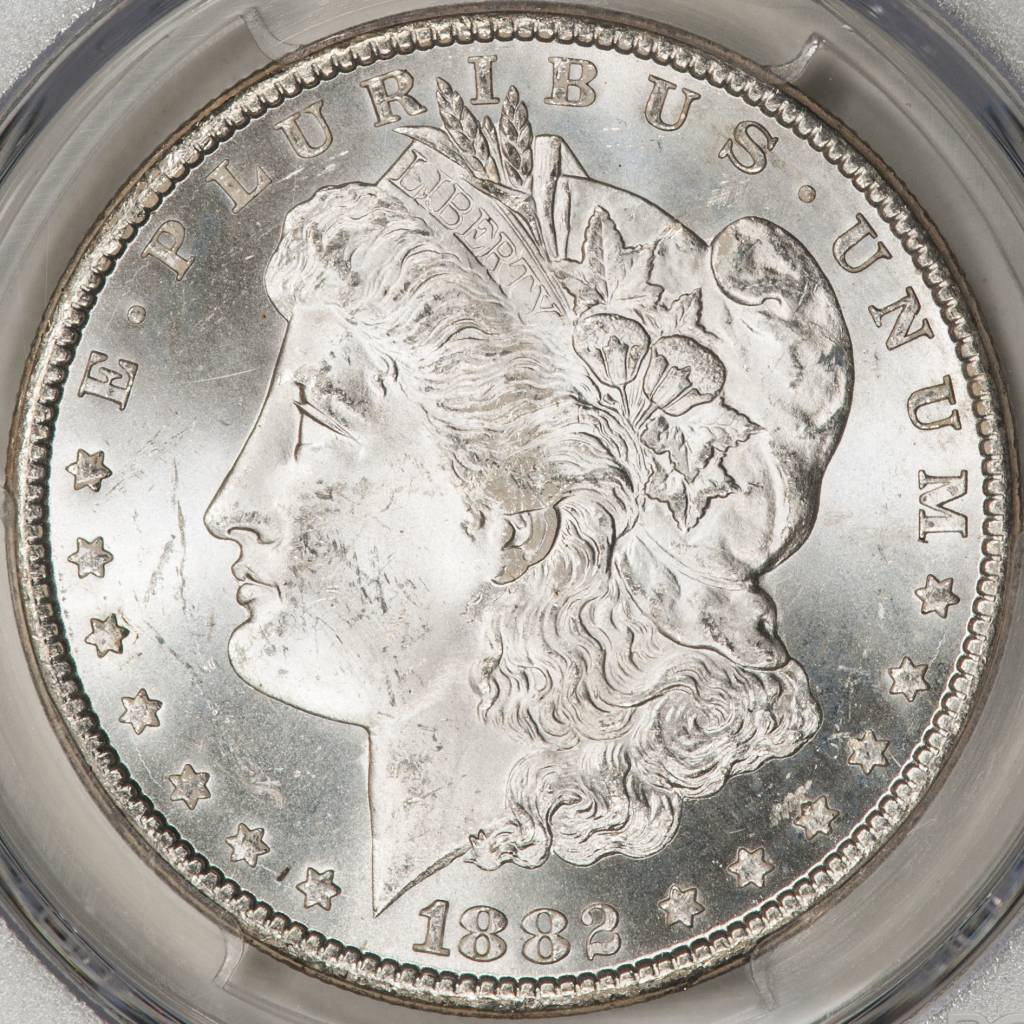 1882-CC PCGS MS63+ Morgan Silver Dollar