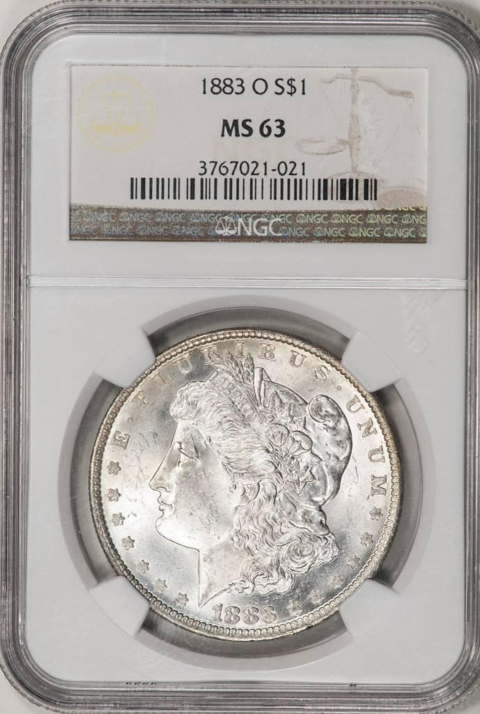 1883 O NGC MS63 Morgan Silver Dollar