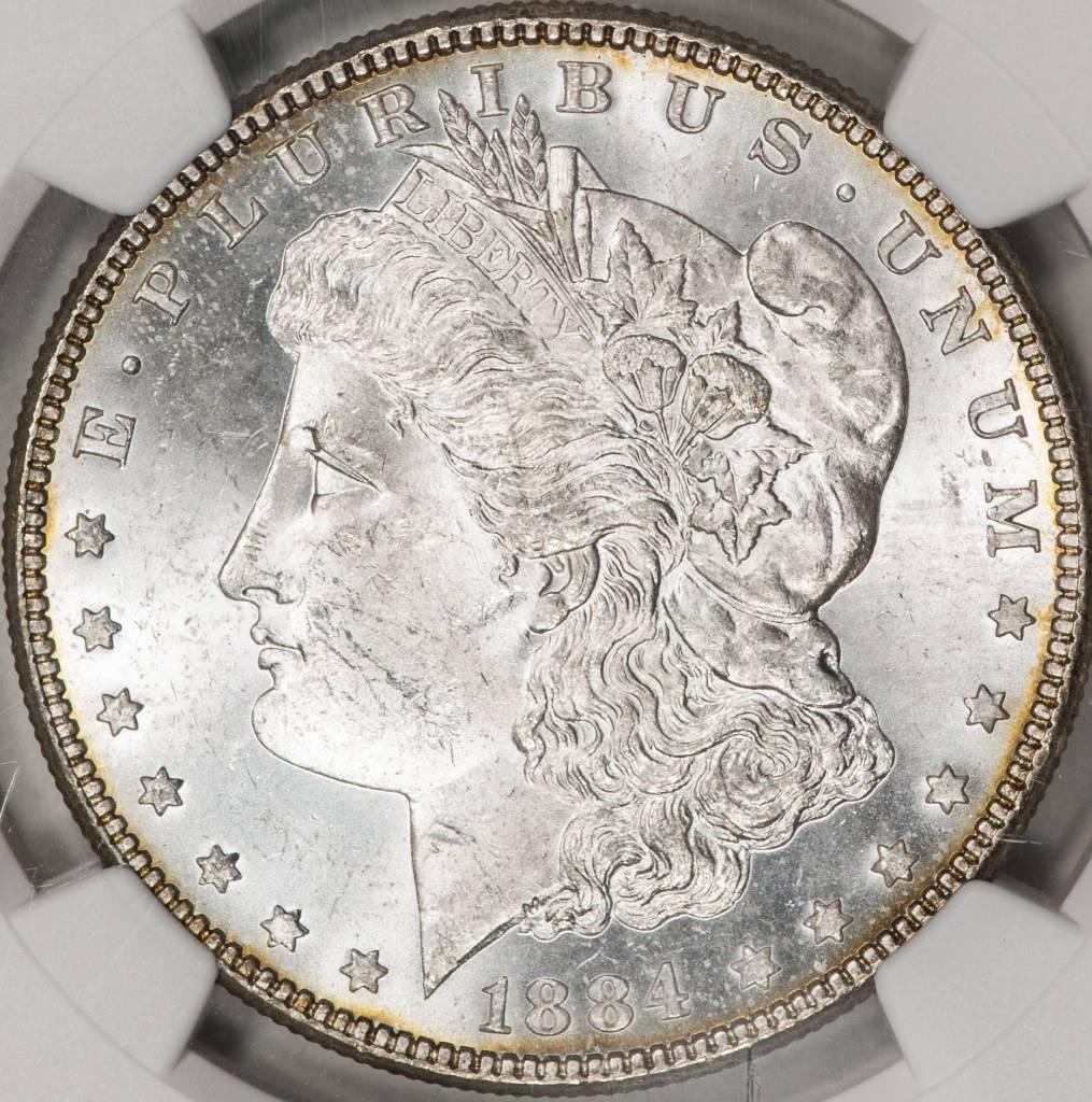 1884 NGC MS63 Morgan Silver Dollar